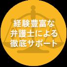 経験豊富な弁護士による徹底サポート